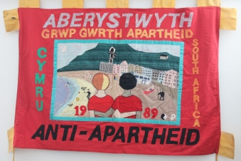 Anti-Apartheid banner (double-sided)